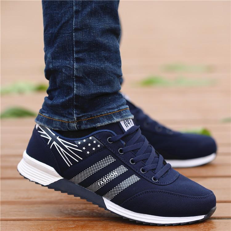 春夏季老北京布鞋男鞋韩版潮流休闲鞋青年低帮透气板鞋耐磨运动鞋