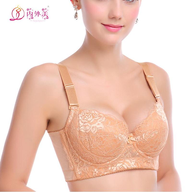 【天天特价】透气大码文胸收副乳上托集中聚拢型薄款内衣
